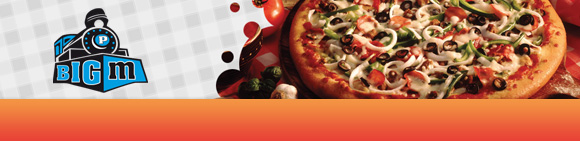 Big M Pizza Bundbanner
